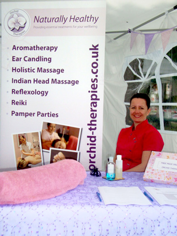 Orchid Therapies showcasing at Grooves on the Green, Ashley Cross, Poole in July 2011.
