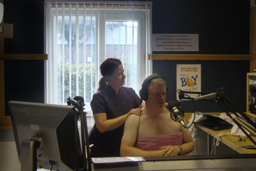 Orchid Therapies' first appearance on the radio in August 2011 demonstrating an Indian Head massage to the DJ live on air!
